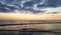 North Sea and Beach Sunrise - Blyth (Gilli8888) Tags: cameraphone samsung galaxy s7 coast coastal eastcoast northeast northumberland northsea blyth blythbeach silhouette silhouettephotography seaside sea sunrise dawn morning february light beach sand