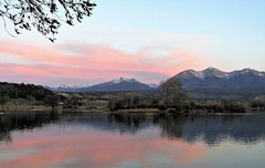 The Colors of Morning (Patricia Henschen) Tags: sunrise morning mountains sawatch range clouds reflection trees frantzlake swa statewildlifearea salida colorado 14ers alpenglow upperarkansasvalley spring