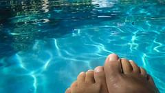 Summer toes (EssjayNZ) Tags: toes feet summer pool water