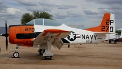 North American NA-226 T-28C Trojan 140481 in Tucson (J.Comstedt) Tags: aircraft flight aviation air aeroplane museum airplane us usa planes pima space tucson az johnny comstedt north american na226 t28 trojan navy 140481