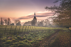 Cutting the Ribbon (unciepaul) Tags: landscape misty sunrise sunday earlystartagain church deene park northamptonshire a6000 beautiful photography lightroom february 2019 long exposure