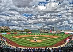 Greetings From Tempe Arizona (CODA: MARINE 475) Tags: stanford cardinal college baseball pepperdine waves grass field ballpark sky clouds stadium