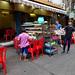 Tourist street restaurant in Yangon