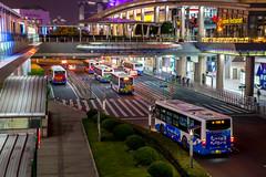 Shanghai #22 [Explored] (_Franck Michel_) Tags: bus station city urban center night china