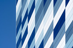 Geometry with blue and white (on Explore) (Jan van der Wolf) Tags: map176177ve panels panelen blue white wit blauw facade gevel architecture architectuur geometric geometry geometrisch abstract