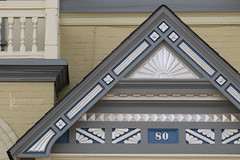 119 : 9 architectural detail (Karen Juliano) Tags: architectural details peak eave woodwork moulding paint