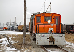 Electric Winter (jterry618) Tags: iowatraction iatr electric interurban railway railroad train engine car sky locomotive electricrailroad traction juice