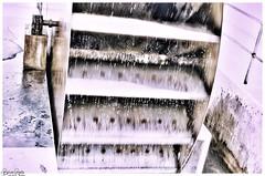 Wasserrad /waterwheel (Reto Previtali) Tags: wasserrad wasser water industrie technologie chur schweiz switzerland eisen stahl stole wassertropfen waterdrop lichteinfall licht light sonne day tag nikon nikkor flickr digital outside retro creativ