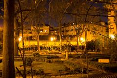 Jardin del Principe de Anglona de noche plaza de la Paja Madrid 01 (Rafael Gomez - http://micamara.es) Tags: jardin del principe de anglona noche plaza la paja madrid
