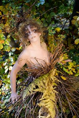 "TEATRONATURA ""Hint of Autumn"" (valeriafoglia) Tags: autumn tree trees leaves wood atmosphere art amazing fantasy forest ethereal creative composition capture colors creature concept beautiful beauty nature model makeup magic photo photography pretty portrait posing brown yellow outfit"