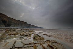 """ DRAMATIC POOLS "" (Wiffsmiff23) Tags: heritagecoastlinesouthwales southwales nashpoint traeth reflection rockpool rocks dramatic drama storm welshsphinx sphinx"