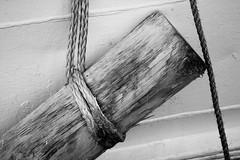 6Q3A8600 (www.ilkkajukarainen.fi) Tags: blackandwhite mustavalkoinen monochrome laiva ship parru tukki kösi stockholm tukholma scandinavia sverige wood rope köysi puu happy life visit travel travelling