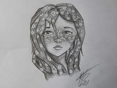 Constellation Girl (Ephraim Fowler) Tags: ephraim fowler girl pencil drawing art constellations stars
