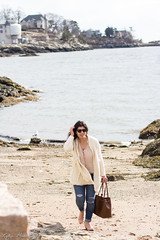 fringe cardigan, silk button down top, blush suede booties, bucket bag-14.jpg (LyddieGal) Tags: anthropologie thrifted spring oldnavy jeans fashion boots outfit blush white beach monogram denim gap connecticut weekendstyle style marleylilly wardrobe swap rayban joie tjmaxx