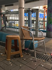 IMG_3210 (MikeSpiteri) Tags: mongkok chained unmodified public chair plastic metal