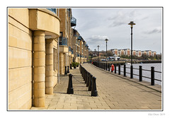 Quayside Apartments (Seven_Wishes) Tags: newcastleupontyne 2019 jo canoneos5dmarkiv canonef24105mmf4lisii outdoor photoborder newcastlequayside water river rivertyne buildings apartments path railings bollards thehub lights lamppost boats shadows sky clouds tyneandwear uk
