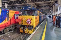 23.03.19 | The 50 Terminator Pheonix'd (Jamie A. Hunter) Tags: canon photography ef 24105mm f4l is usm eos 5ds inc railway diesel locomotive loco class 50 50049 50007 train trains rail bristol exeter penzance west windshield people englishelectric pathfinderrailtours londonwaterloo class707 siemens