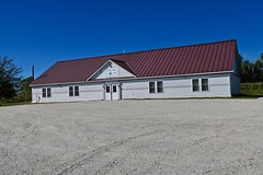 Masonic Lodge, New Sharon, ME (Robby Virus) Tags: newsharon maine me franklin masonic lodge masons freemasons building fraternal organization parking lot