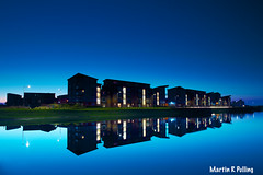 Llanelli docks (welshmanwandering1) Tags: llanelli docks wales uk water night flats longexposure sky canon blue martinrpulling martinpulling reflections