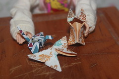 Tiny origami for Tammy World (tamsykens1) Tags: tammy world fern when i read dream doll red hair miniature origami
