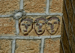 Three Faces Carved On A Wall, Ibb, Yemen (Eric Lafforgue) Tags: arabia arabiafelix arabianpeninsula architectural architecture bizarre brick carvedstone closeup colourpicture day detailofarchitecture face historical history horizontal ibb lowangleview mensface nopeople placeofinterest simple simpleface three wall yemen img0502
