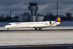 D-ACKF (PM's photography) Tags: airplane airline airliner jet plane spotting canon eos 7d tamron 150600 g2 sky airport poznan lawica poland eppo poz wielopolskie lufthansa dlh lh canadair crj crj9 dackf tower cloud