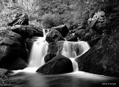 Cascade (jpto_55) Tags: ruisseau cascade ruisseaudescales noiretblanc fuji fujifilm fujixf1855mmf284r hautegaronne france poselongue
