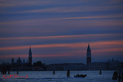 Silhouettes and Sunset over Venice (Kent Johnson) Tags: 16001600adjcesef3771 venice lido sanmarco santamariadellasalute campaniledisanmarco venitianlagoon grandcanal sunset fujifilmxt1 xf55200mmf3548rlmois