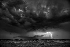Storm (V2-BW) (belashti) Tags: amr7893 marathon postroad postrd storm clouds lightning texas westtexas