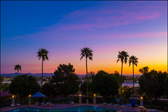 Sunrise (greenschist) Tags: water swimmingpool usa yuma sky sunset palmtrees arizona