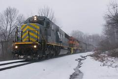 B&P RIBT @ Cowansville, PA (Dan A. Davis) Tags: buffalopittsburgh bprr bp geneseewyoming gw sd50 sd402 sd40t2 freight freighttrain train railroad locomotive pennsylvania pa carboncenter adrian cowansville