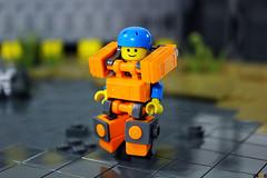 Tim (Devid VII) Tags: devid vii moc lego suit mecha mech minifigs military ted bob kevin lbg minifigures minifigure minifig tim orange diorama