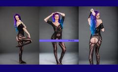 Nikki (rtencati) Tags: sexy valentine boudoir bluehair purplehair purple vixen rontencatiphotography model modelshoot