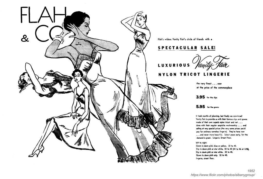 62459b781 1952 flah  amp  co lingerie (albany group archive) Tags  albany ny history
