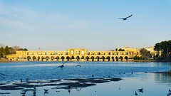 Khajou Bridge (Elahe Jalali) Tags: iran architecture zayanderood amazing tourism travel winter bridge khajubridge bestplace vacation sonyalpha flickr isfahan water river