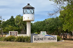 Welcome to Burnett Heads (Dreaming of the Sea) Tags: lighthouse landscape tamronsp2470mmf28divcusd nikond7200 sign trees bluesky clouds burnettheads bundaberg queensland australia rust 2019 fantasticmonday