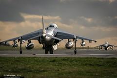 ZD376 / 24A - British Aerospace Harrier GR7A - Joint Force Harrier (KarlADrage) Tags: zd376 24a britishaerospaceharriergr7a gr7a jumpjet jointforceharrier jfh egxj cot rafcottesmore dumbbomb