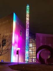 The Light Totem installation at the Eskenazi Museum of Art (jdf_92) Tags: indiana iu night bloomington lighttoteminstallation eskenazimuseumofart lighttotem robshakespeare robertshakespeare indianauniversity