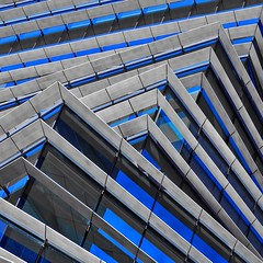 Stack of Lines (2n2907) Tags: silver blue abstract architecture photo glass windows building skyscraper graphic geometric geometry linear architectural lines olympus omd mirrorless rolex dallas texas