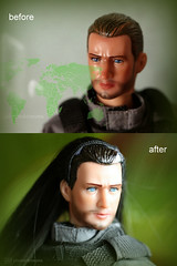 swat officer before / after (photos4dreams) Tags: ooak custom handpainted handbemalt squad special actionfigure actionfigur 16 photos4dreams p4d photos4dreamz actionman man male mann specialforces officer unit team squat diy