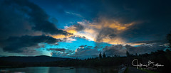 Sunset after thunder showers- (Jeffrey Balfus (thx for 4 Million views)) Tags: sonyalpha sonya9mirrorless sonyilce9 fullframe sel24240 24240mm f3563 oss zoom lens sunset clouds lake water