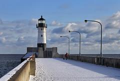 North Pier Lighthouse - Duluth, MN (j-rye) Tags: sonyalpha sonya7rm2 ilce7rm2 mirrorless winter duluth minnesota water lakesuperior lighthouse