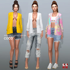 COCO New Release @ Fameshed (cocoro Lemon) Tags: coco fameshed blazer denim skirt secondlife fashion mesh maitreya slink belleza