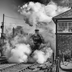 Shunting Drama (powern56) Tags: somerset eastsomersetrailway esr cranmore 46447 ivatt 260 steamlocomotive railway heritagerailway