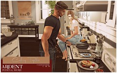 Ardent Poses - Cooking Together Ad (Ardent Poses) Tags: secondlife second life sl avatar 2nd 2ndlife avi virtual vr 3d inworld poses pose ardent photography people exclusive avatars event love couple couples release new hold broderick logan ena roane enaroane bento advertisement sidewalk sale ardentposes