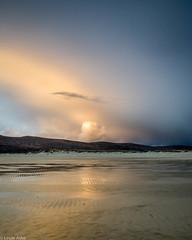 Passing rain shower at sunset (Donard850) Tags: harris isleofharrisandlewis scotland beach rainclouds