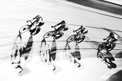 Follow the Leader - 6 Day London (Malcolm Bull) Tags: 201810280368edited1web include mono 6 six day london lee valley velodrome cycling