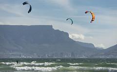 (Rob Millenaar) Tags: southafrica bloubergstrand dolphinbeach kitesurfing tablemountain robsfamily