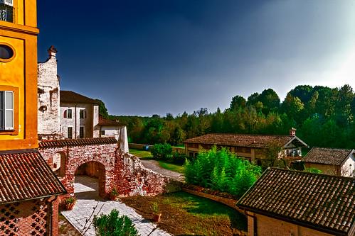 The ancient walls of Morimondo