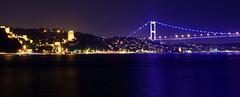 Rumeli Fortress and bridge (meren34) Tags: castle bridge night blue sea bosphorus light ıstanbul rumeli fortress